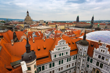 Dresden, Germany Rooftop Cityscape