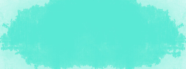Aquamarine turquoise stone concrete paper texture background panorama banner long, with space for...