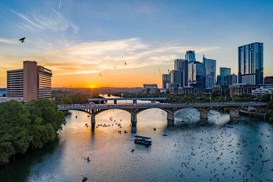 Austin Texas Downtown Aerial