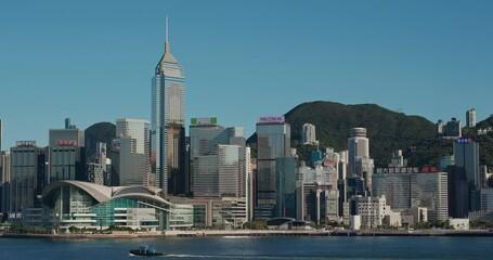 Wall Mural - Hong Kong with blue sky