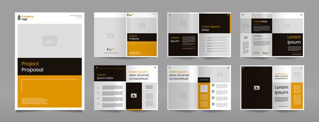 Business proposal brochure design template