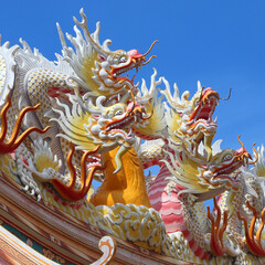 dragon with beautiful sky background