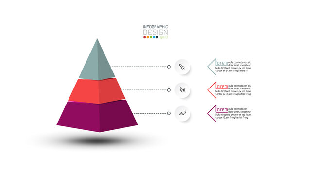 Vector design diagram presentation on pyramid layer shape can use with report of business compensation