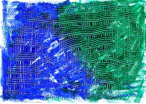Acrylic background in the colors blue and green with pattern