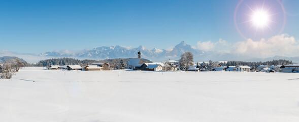 Winterlandschaft im Allgäu bei Füssen