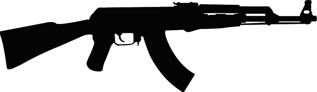 ak47 eps vector file sub machine gun