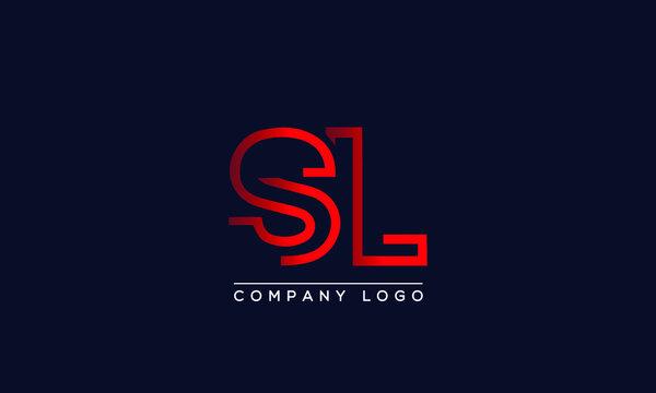 Creative letters SL or LS Logo Design Vector Template. Initial Letters SL Logo Design
