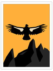 california condor | postcard template