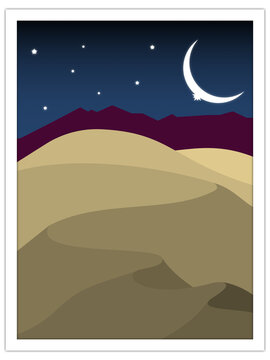 sand dunes at night | postcard template