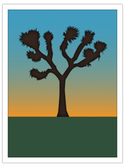 joshua tree | postcard template