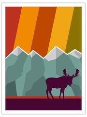 moose + mountains | postcard template