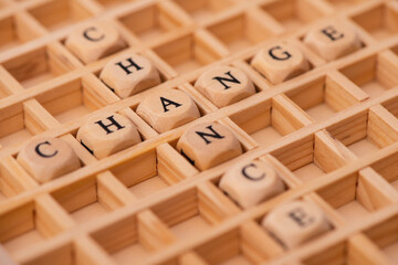 word cloud for chance and change