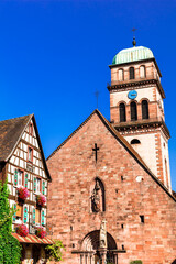 Kaysersberg - one of the most beautiful villages of France, Alsace . Popular tourist destination