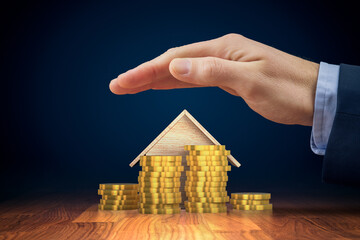 Real estate increase value of money concept