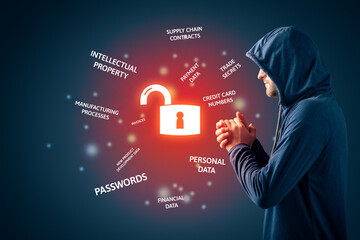 Malicious hacker look forward to steal corporate data