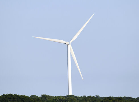 close up on windmill electricity generator
