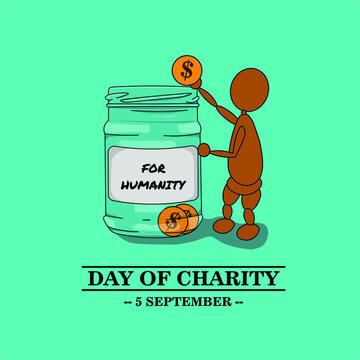international day of charity illustration