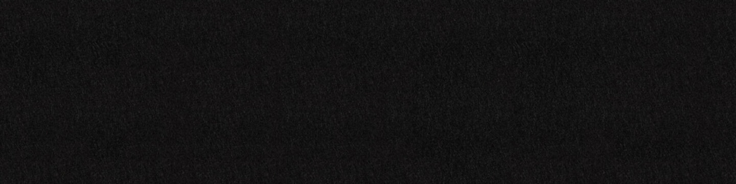 Black felt abstract background. Panoramic seamless texture, patt