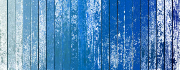 Photo sur Toile Les Textures blue wood background