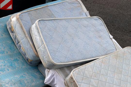 Mattresses left on the street