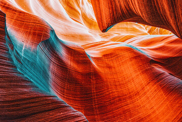 Photo sur Plexiglas Rouge Antelope Canyon is a slot canyon in the American Southwest.