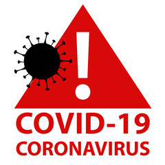 Covid-19 coronavirus infected area.Red and black attention access zone panel with cell illustration.