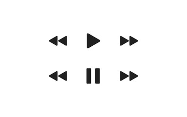Play bar, simple set icon for your design. Pause bar concept illustration in vector flat