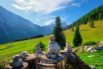 Stone weathermen in Gaistail Tirol