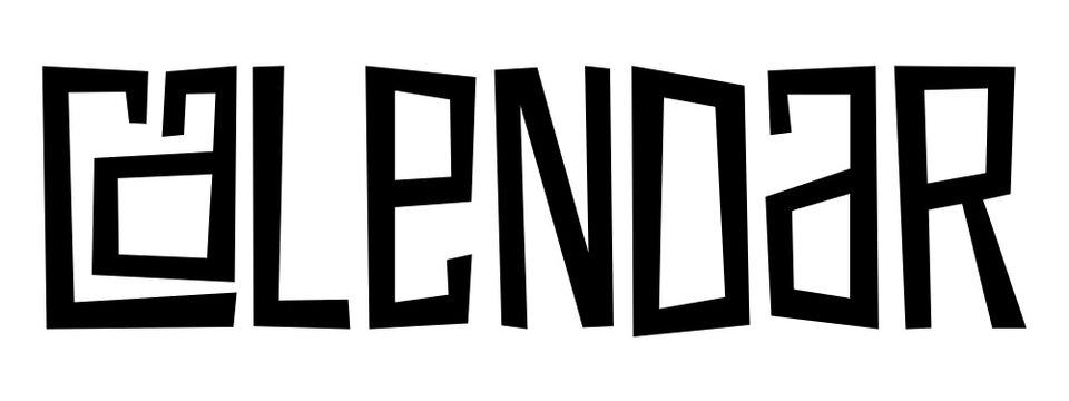 CALENDAR black vector hand lettering banner