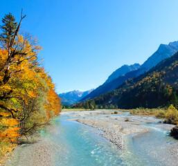 Karwendel river near Großer Ahornboden