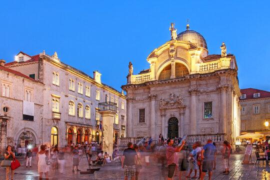 Evening scene in Dubrovnik, Croatia