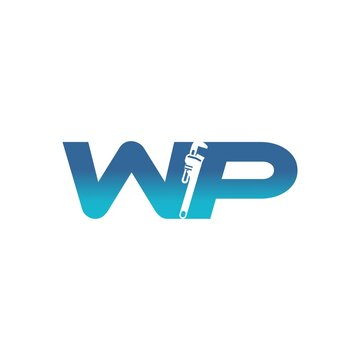 initial WP plumbing service logo
