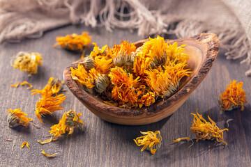 Calendula dried flowers
