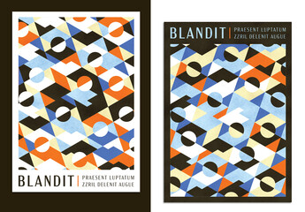 Textured Geometric Pattern Art Poster Layout