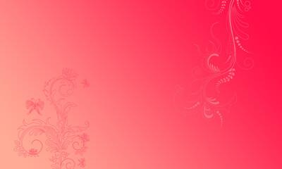 Hintergrund rot pink Ornament floral Mitte hell pastell Ranken Design Layout Vorlage Untergrund leuchten schimmern hell Frühling Sommer Symbol Blumen Flora zeitlos schön elegant Schmetterlinge