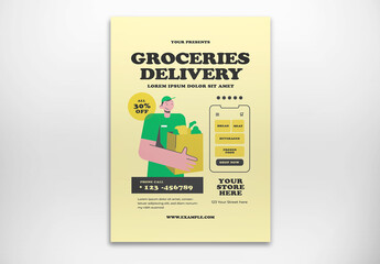 Groceries Delivery Flyer