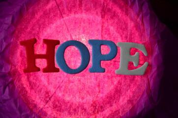 SLOWO HOPE - fototapety na wymiar