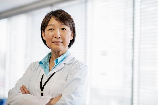 Portrait of medical researcher