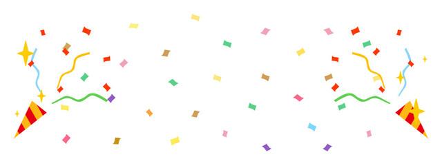 お祝いのクラッカーを紙吹雪 Fotomurales