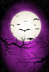 ハロウィン 月 夜空 背景