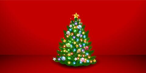 クリスマスツリー 冬 部屋 背景