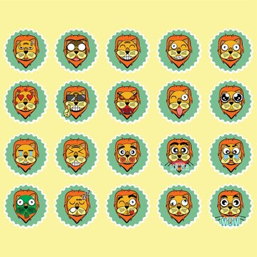 collection of lion expressions