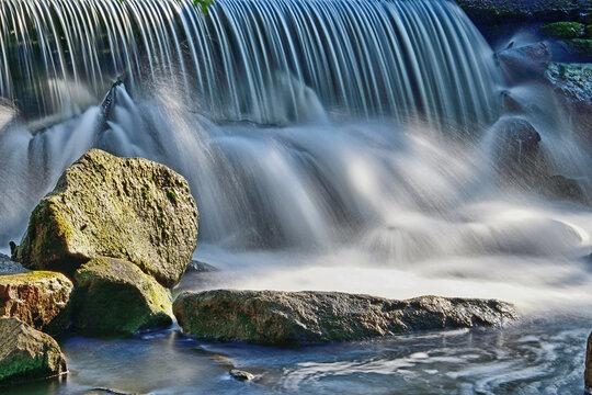 A Tiny Waterfalls from Vasona Lake Dam, Los Gatos, California, USA