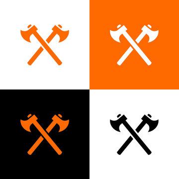 Lumberjack logo concept, ax icon design, axe logo symbol - Vector