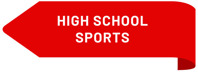 High School Sports web Sticker Button