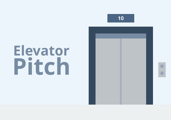 Elevator pitch vector. Business and presentation concept.