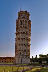 Der schiefe Turm von Pisa in der Toskana in Italien