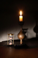 Candle And Hourglass