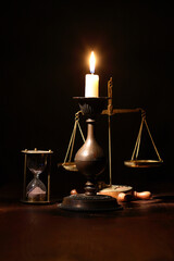 Candle And Weight Scale