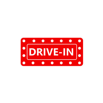Drive-in simple icon. Clipart image isolated on white background